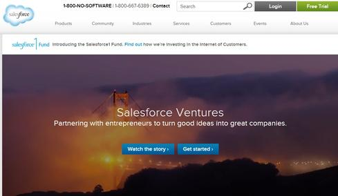 A new Salesforce Ventures site at salesforce.com/ventures explains the company's investment funds and programs.