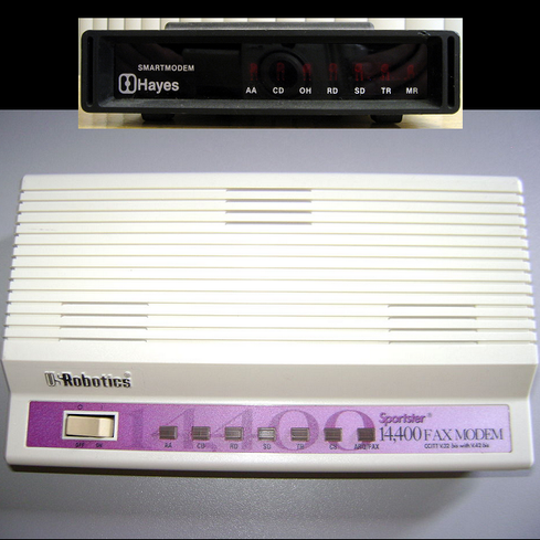 Baud   The terms 'baud' or 'baud rate' are rarely heard these days, but in the 1980s manufacturers used them to measure data transmission speeds of dialup modems. 'Baud' describes the maximum oscillation rate of an electronic signal, according to TechTerms.com. If a signal changes 1,200 times per second, for instance, it's measured at 1200 baud. As modems gained the ability to transfer multiple bits per signal transition, the term 'bits per second' began to replace baud in marketing nomenclature and is still used today -- think 'megabits per second' (Mbit/s) -- to describe broadband speeds.     (Image: Wikipedia) </center)