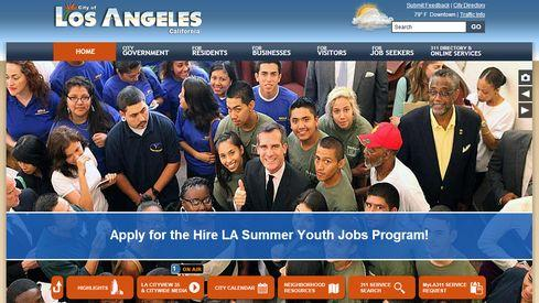 The current website for the City of Los Angeles.