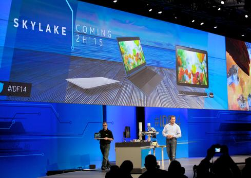 Intel said its 'Skylake' chips, due by late next year, will deliver significant processing and battery life improvements.