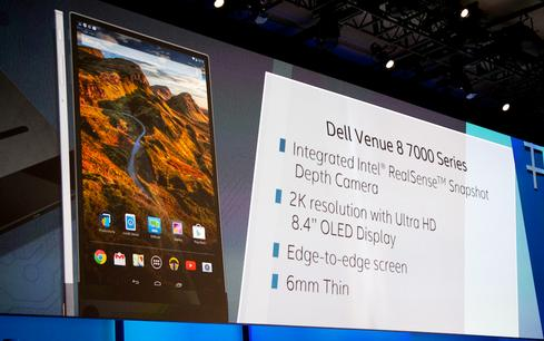 Dell and Intel bill the Venue 8 7000 as the world's thinnest tablet,at only 6 mm thick.
