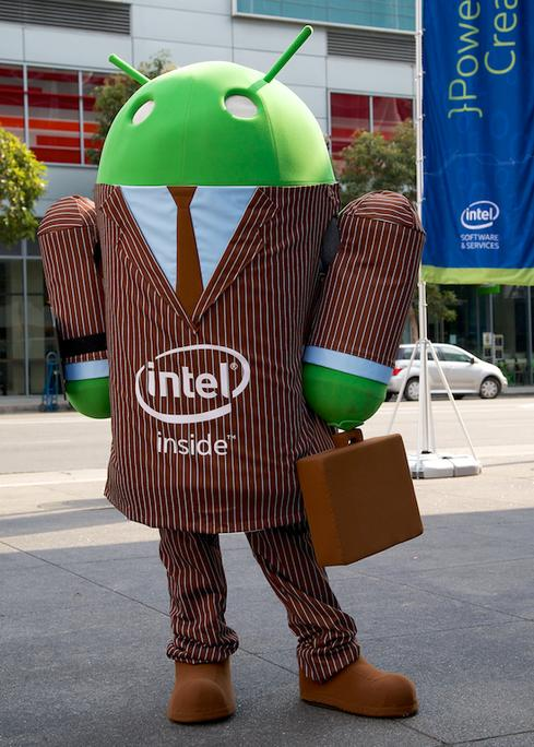 Intel says its chips run Android better than ARM processors do.
