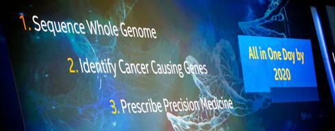 Intel says that by 2020, big data and health-oriented wearable devices will help doctors to create personalized cancer medicines in less than 24 hours.