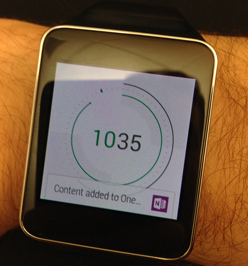 OneNote for Android Wear.