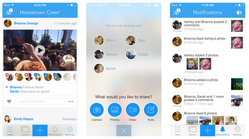 Cluster lets you create a private space to share photos, videos, and notes.
