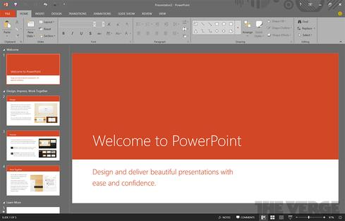 The next version of Office reportedly will include a 'black' theme option. (Source: The Verge)