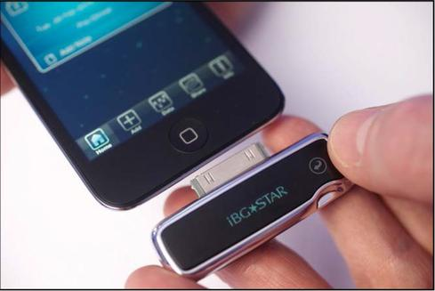 Connected glucose monitor. (Source: Diabetes Journal)
