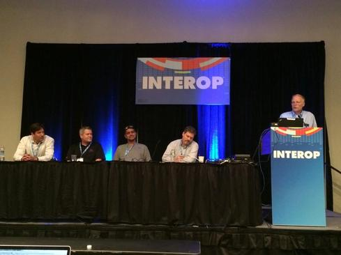 Interop 2014 PaaS panel in New York.(Source: Cloud Applications workshop chair Bernard Golden on Twitter)