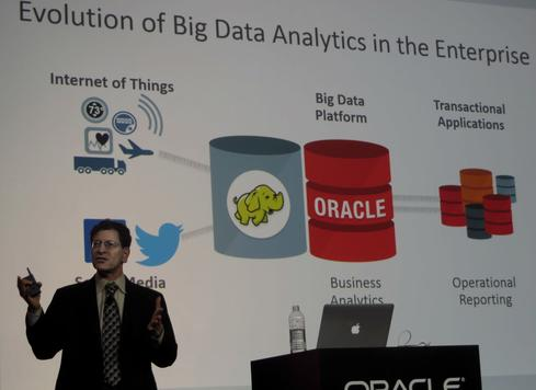 Mendelsohn explains Oracle Big Data SQL, which queries across NoSQL, Hadoop, and Oracle Database.