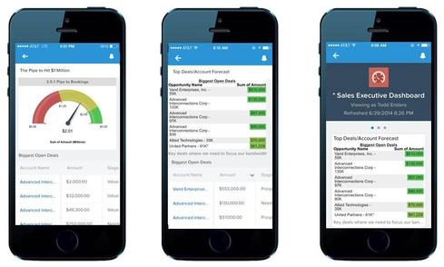 Sales Cloud1 and Service Cloud1 are focused new mobile apps built on the Salesforce1 mobile development platform.