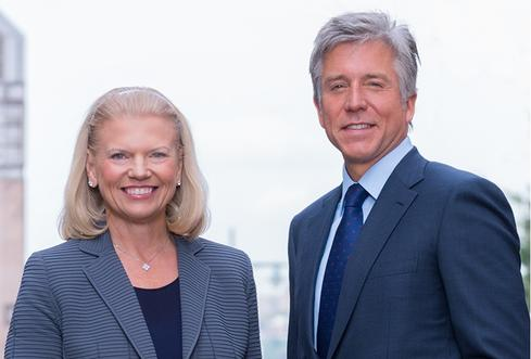 Ginni Rometty, chairman, president, and CEO of IBM, and Bill McDermott, CEO of SAP. The two companies have partnered for decades.