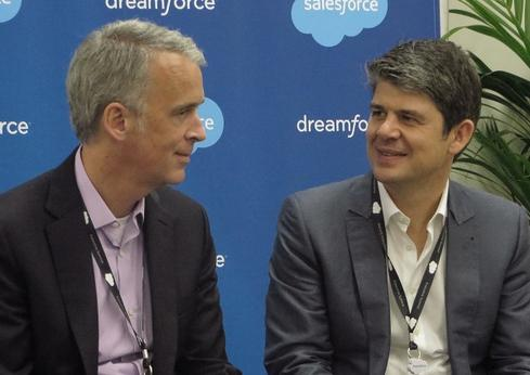 The masterminds behind Wave, Parker Harris, Salesforce.com co-founder, left, and Alex Dayon, president of products.