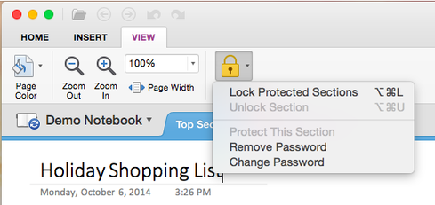 OneNote users no longer need a Windows PC to control password-protected sections.