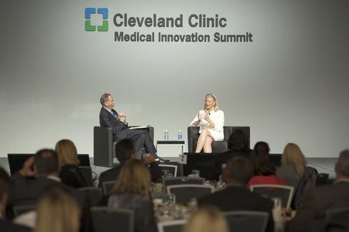 IBM chairman and CEO Ginni Rometty and Cleveland Clinic president and CEO Toby Cosgrove, M.D., at the Cleveland Clinic Medical Innovation Summit.    (Image: Cleveland Clinic)