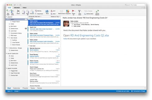 Microsoft Outlook for Macs.