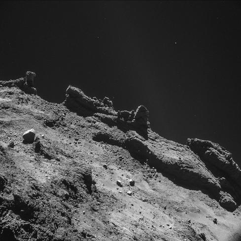 Photo from the approach to the comet (Source: European Space Agency)