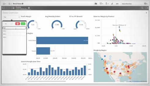 Qlik takes on tableau in data visualization informationweek for Architecture qlikview