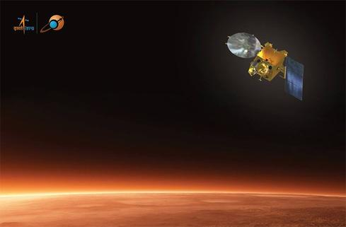 India's Mars Orbiter Mission (artist's rendering)