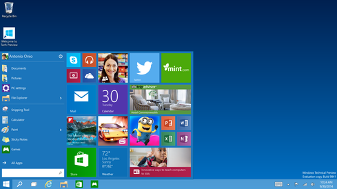 Unlike Windows 8 and 8.1, Windows 10 will include a Start Menu -- but will existing Windows users have to pay to access it?