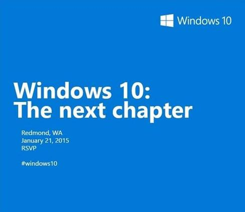 Microsoft will discuss the consumer version of Windows 10 at an event on January 21.