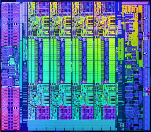 Haswell micro architecture die. (Source: Amazon)
