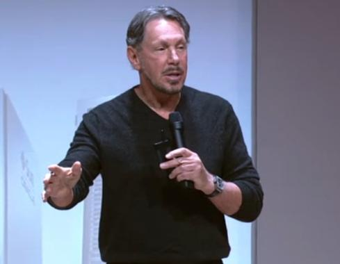 Oracle executive chairman and CTO, Larry Ellison announces the company's X5 Engineered Systems.