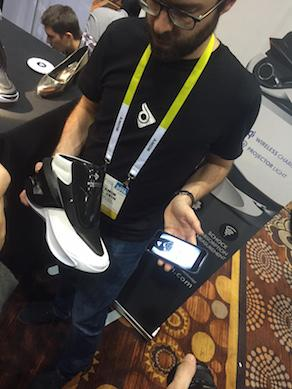 Zhor Zhor has built smart footwear. Its DigitSole shoes, which come in futuristic sneaker and high-heel styles, can be adjusted according to the size of your foot. In addition to warming your feet, they also measure steps taken and calories burned. They charge wirelessly, and submit data via Bluetooth to a compatible mobile app. The shoe lines will be available later this year, with a suggested retail price of $450 a pair.