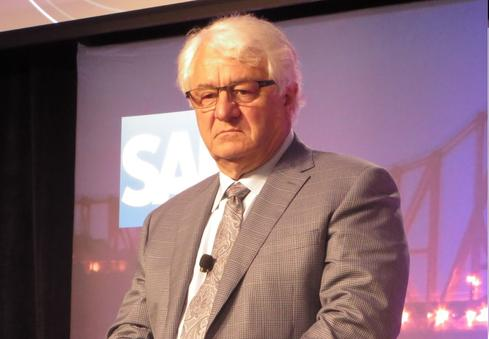 SAP chairman and cofounder Hasso Plattner at Tuesday's S/4Hana launch.