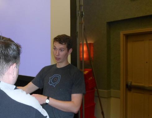 Core OS CTO Brandon Philips, at the summit  (Image: Charles Babcock)