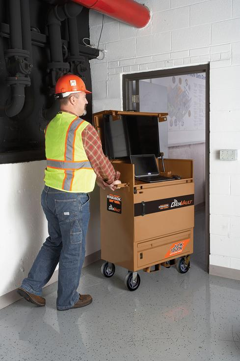 The Data Vault Mobile is intended for sub-contractors, or as the information center on smaller job sites.