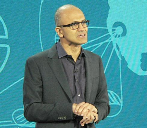 Microsoft CEO Satya Nadella says Internet-of-Things apps will transform many companies into users and providers of apps and services for monitoring and prediction.