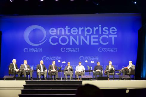 The panel on the progress of unified communications at Enterprise Connect 2015 (Image: Curtis Franklin via InformationWeek)