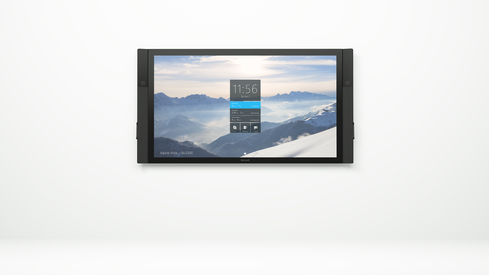 Microsoft Surface Hub -- a flat-screen tool for collaboration. (Image: courtesy of Microsoft)