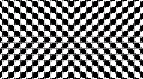 Your brain sees curves, but in reality the lines are straight.