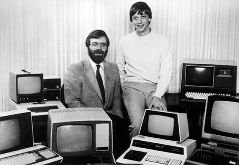 Co-founders Paul Allen (left) and Bill Gates.    (Image: Microsoft)