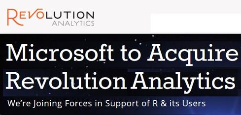 Revolution Analytics is now a subsidiary of Microsoft. It will maintain its current products and support for non-Microsoft platforms and open-source projects, the company stated.