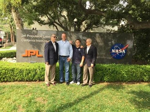 The stream team, from left to right: Jim Rinaldi, CIO; Gordy Cucullu, Thermal Systems Engineer; Dan Isla, developer/IT data scientist; and Tom Soderstrom, IT Chief Technology and Innovation Officer.