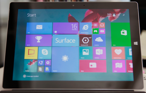 Screen Size For its target audience, the Surface 3 is a great size. It's easy to hold in one hand. I couldn't even feel its weight in my bag. I can see it being a hit among students and mobile professionals like retail workers and flight attendants. Eskridge mentioned that customers in both education and travel have expressed interest in the device. That said, some might find the screen too small. I'd have a hard time using Surface 3 for daily productivity because I always have a bunch of apps running at once.  As a tablet, it's also speedy and functional, though thick (8.7mm) compared with others on the market. The kickstand is a nice add-on, even without the keyboard.