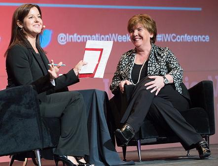 Wal-mart's Karenann Terrell (right), with InformationWeek's Stephanie Stahl.