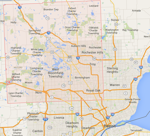 Oakland County, Michigan (Image: Google via Google Maps)