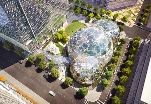 Apple's Spaceship, Amazon's Bubble: 10 Hip Tech Headquarters