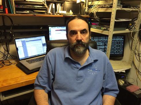 Harlan Stenn in his Oregon NTP Lab. (Image: Margaret Clark)