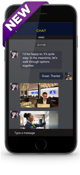 With Chat For Apps, pictured above, A customer can instantly message an agent without leaving the mobile app.