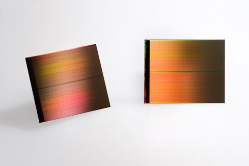 3D XPoint chip dies. (Image: Micron)
