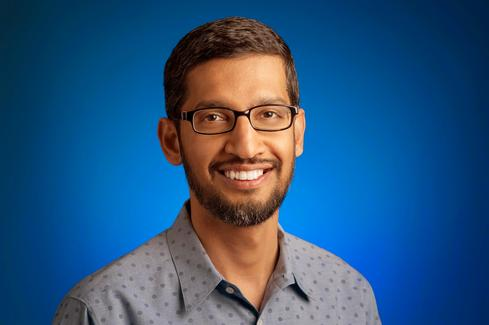 (New Google CEO Sundar Pichai)