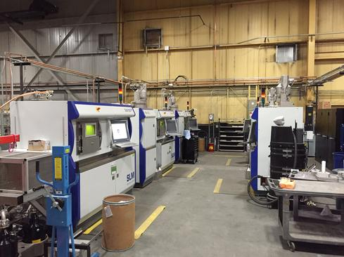 GE Power & Water's temporary additive manufacturing work station in Greenville, SC.