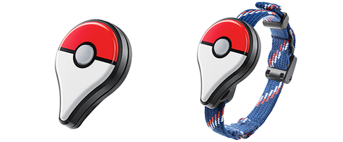 The optional Bluetooth devices that could help you play the game without being glued to your phone, with and without strap.  (Image: Nintendo)
