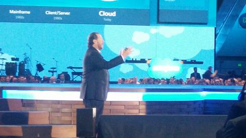 Marc Benioff, CEO, Salesforce Benioff envisions a world of mass customization where data from the Internet of Things is entered directly into CRM applications to enable sales and marketing to respond. The technology is an IoT Cloud powered by a real-time event-processing engine called Thunder. The first customer is Microsoft. Microsoft will be taking customer data directly from online products like Windows, devices like Windows phones, and other connected devices and turning the information into actionable insights.  (Image: David Wagner)