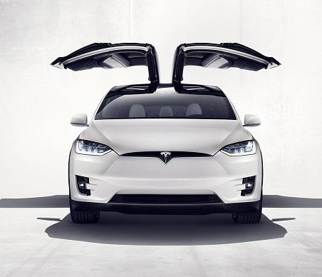 (Image Tesla) & Tesla Model X Electric SUV Sports Falcon Wing Doors - InformationWeek