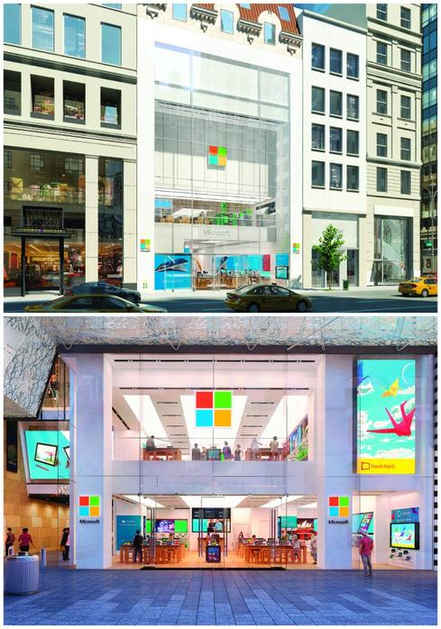 Top: NYC's Fifth Ave. Bottom: Sydney's Pitt Street Mall (Image: Microsoft)